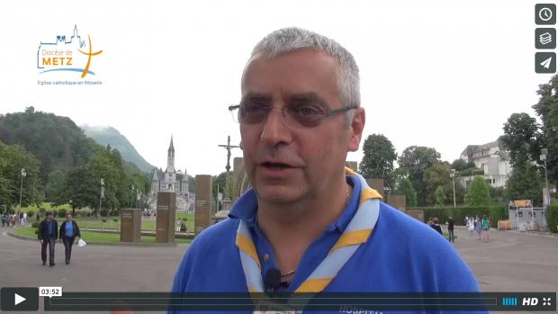 Patrick Bence à Lourdes