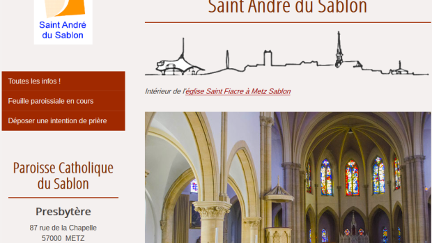 site internet paroisse St André du Sablon