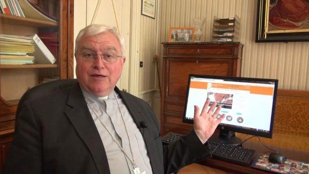 Mgr Lagleize présente le nouveau site